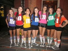 M & M's - 100 Winning Group Halloween Costume Ideas via Brit + Co.