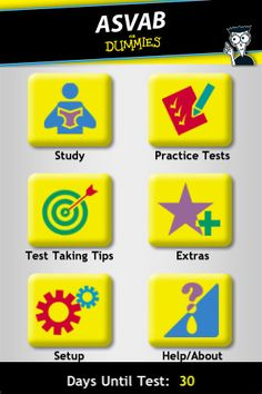 ASVAB Practice For Dummies iPhone and iPad app by gWhiz, LLC. Genre: Education application. Price: $9.99.