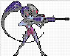 Overwatch Pixel Spray Pattern: Widowmaker