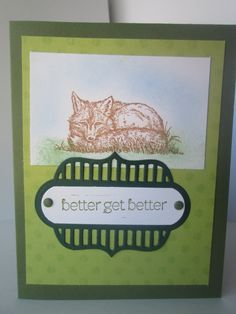Better Get Better Card. Stamped by Maryann's Scrapdesk 2016.