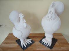 Mr and Mrs Chicken Vase, Crafty, Ceramics, Chicken, Home Decor, Ceramica, Pottery, Decoration Home, Room Decor