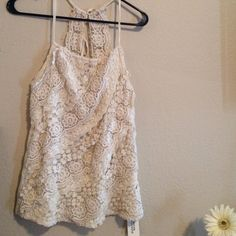 ✨🌸Boho Lace Tank Size M ✨ Adorable F21 boho lace tank will fit small also. Tops Tank Tops