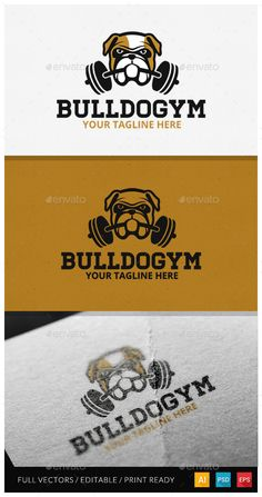 One Day logo sale on graphicriver #logodesign #buldog #dog #gym #cybermonday #sale #logo #logotemplate #freedom #sp