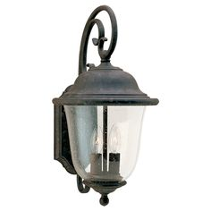 Vintage outdoor lighting with Regency bronze finish. Traditional ...