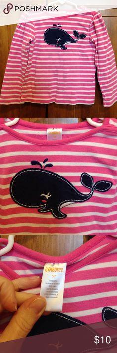 5T Gymboree long sleeve t shirt. 5T Gymboree long sleeve t shirt.  Nautical appliqué whale on the front.  Excellent condition. Gymboree Shirts & Tops Tees - Long Sleeve
