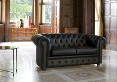 Sofa #Chester 2 Sitzer, Authentische Capitonné-Ausarbeitung