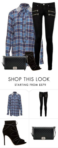 """Money on my mind"" by chase-stars ❤ liked on Polyvore featuring Paige Denim, Gianvito Rossi and Chanel"