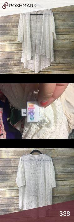 LuLaRoe White Lindsay Worn once! No flaws! Size small LuLaRoe Sweaters Cardigans
