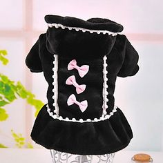 Bowknot Decorate Winter Dress for Pet Dogs Assorted Colors Assorted Sizes – USD $ 16.09
