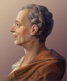 (1689-1755) Foi um filósofo social e escritor francês. Foi o autor de 'Espírito das Leis'. Foi o grande teórico daquilo que veio a ser mais tarde a separação dos três poderes: Executivo, Legislativo e Judiciário. É considerado o autêntico precursor da Sociologia Francesa. Foi um dos grandes nomes do pensamento iluminista, junto com Voltaire, Locke e Rousseau. Obras: 'Cartas Persas' e 'Considerações sobre as causas da grandeza dos romanos e de sua decadência'. Entre outras. ―Montesquieu