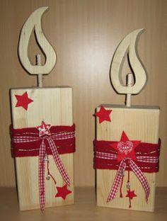 Brittas Kreativstübchen: Kerzen aus Holz (weitere)