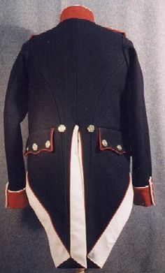 Replica French Infantry Uniform, circa 1806-1810, as viewed from the back.