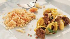 Gryderet med oksekød, koriander, porrer og couscous