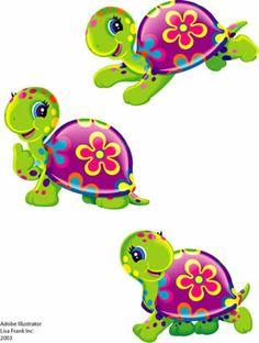 The art of Lisa Frank Lisa Frank, Cartoon Clip, Cute Cartoon, Turtle Images, Turtle Crafts, Cartoon Turtle, Turtle Love, Happy Turtle, Cute Turtles