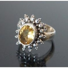 Citrin ezüst gyűrű Style Inspiration, Rings, Floral, Jewelry, Jewlery, Bijoux, Florals, Schmuck, Jewerly