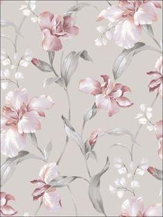 Floral Botanicals Wallpaper HT71201 by Seabrook Wallpaper