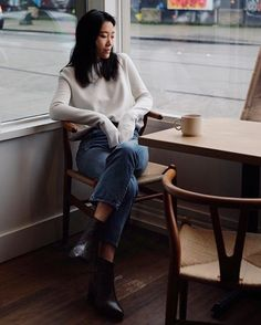 A moment of solitude - and coffee - Andy Heart wearing ATP Atelier boots Bianca #atpatelier #atpatelierweekends #andyheart
