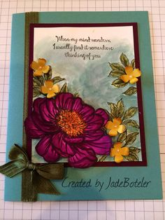 Bloom with Hope in colors 2014 Stamped by Jade Boteler