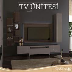 Ahşap tonlarının hakim olduğu Statü Tv Ünitesi sade tasarımı ile şıklığı yakalıyor.