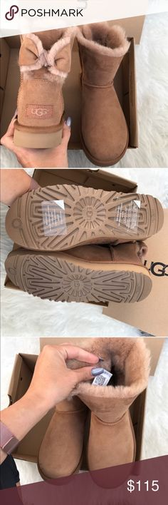 UGG authentic NAVEAH chestnut boots sz 6 New! UGG authentic NAVEAH chestnut boots sz 6 New! 100% authentic. These boots were manufactured this year improved style, new packaging and with the authenticity QR READER smartphone scannable tag feature. itemcloset#cuacua UGG Shoes
