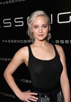 We're loving this new platinum blonde bob on JLaw.