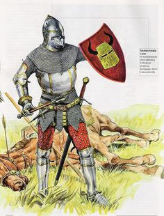 A descriptive look at the Crusades' 1095 - 1291 A. Knight Medieval, Medieval Armor, Medieval Fantasy, Medieval Drawings, Medieval Paintings, Armadura Medieval, Knight Art, Knight In Shining Armor, Medieval Costume