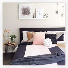 I have a similar colour palette in our bedroom like what @styledbydi has in her divine room. This room has been #styled perfectly featuring @kmartaus #copper / #rosegold lamp, wire side table and throw.( Details on the other items in this image can be found over on her insta image) Love it @styledbydi well done and thanks for tagging @kmartaus_inspire on your image again so I could share to inspire others. Xo :) #kmartausinspire #kmartstyling #kmart #regram #kmartaus #kmartaustralia #living…