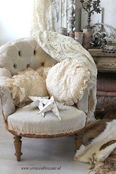 Brocante, décoration brocante, fauteuil ancien