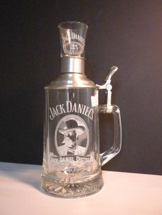 Jack Daniels Beer Stein with Shot Glass Perfect Mens by oldandnew8, $32.00