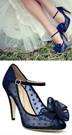 blue sheer polka dot kate spade wedding heels via Pretty Shoes, Beautiful Shoes, Cute Shoes, Women's Shoes, Me Too Shoes, Shoe Boots, Shoes Sneakers, Prom Shoes, Fall Shoes