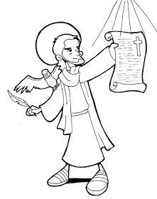Saint John The Evangelist Catholic Coloring Page Feast day is December Catholic Kids, Catholic Saints, San Juan Evangelista, San Francisco Solano, St John The Evangelist, Programming For Kids, Coloring Pages For Kids, Kids Coloring, School Fun