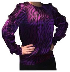 Thomas Wylde Purple Top on Sale, 76% Off   Blouses on Sale at Tradesy