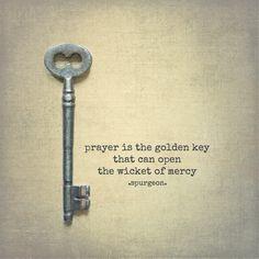 #prayer is the golden key