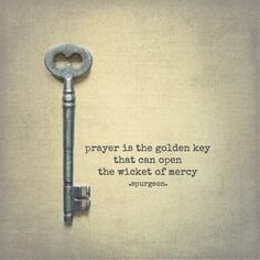 #prayer is the golden key