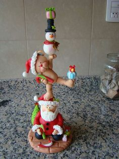 Christmas stack porcelana fria polymer clay fimo pasta francesa masa flexible gum paste pasta goma modelado topper fondant