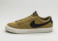 Nike SB Blazer Zoom Low (Golden Beige / Black – Sail – Gum Light Brown #lpu #sneaker #sneakers