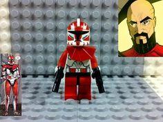 Lego Star Wars Clone Trooper Commander Ganch Custom 084331499566 | eBay