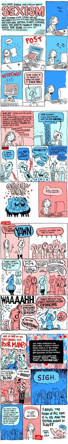Best feminist cartoon I've seen in a long time. Seen this happen ALL THE TIME