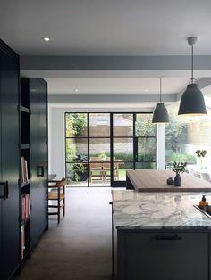 Lightfoot Windows Crittall Steel Windows 038 D Home, Bi Folding Doors Kitchen, Contemporary Kitchen Design, House Design, Crittal Windows, New Homes, House Extension Design, Interior Design, House Interior