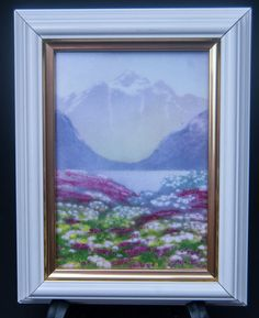 Vintage NORWEGIAN Porsgrund Framed Art Tile Jan Harr Norway Scandinavian