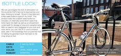Bike lock that fits inside a water bottle- that way you'll never forget it!