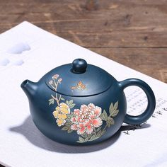 Excited to share this item from my shop: Handmade Yixing Zisha teapot vintage style Chinese peony painting, Designer Yixing clay teapot, handmade Chinese teapot, handcrafted teapot Pottery Painting Designs, Paint Designs, Pinterest Gift Ideas, Etsy Handmade, Handmade Gifts, Yixing Teapot, Peony Painting, Clay Teapots, Tea Pots