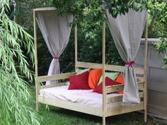 Custom Made Outdoor Daybed by Wholly Craft, Inc. | CustomMade.com