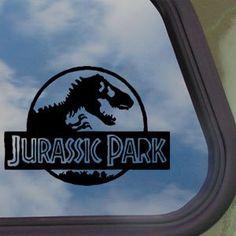 Amazon.com: JURASSIC PARK Black Decal T-REX DINOSAUR TYRANNOSAUR Sticker: Home & Kitchen