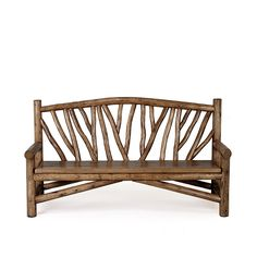 Rustic Bench #1502 shown in Kahlua Premium Finish (on Peeled Bark) by La Lune Collection
