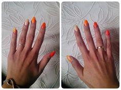 orange gel nails style fall 2014