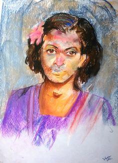 the village girl... soft pastel