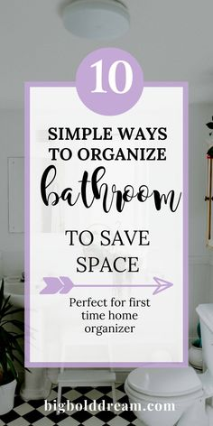 10 Simple Bathroom Organizing Ideas to Save Space Girls Bathroom Organization, Organization Hacks, Organizing Tips, Bathroom Drawers, Small Bathroom Storage, Neutral Wallpaper, Simple Bathroom Designs, Creative Storage, Bathroom Interior Design