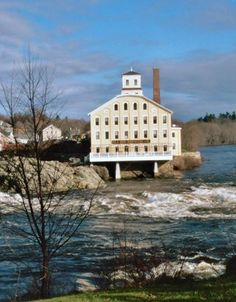 The Bowdoin Mill ~ view from Brunswick, Maine - had several family gathering and friends gather here Places Ive Been, Places To Visit, Freeport Maine, Maine New England, Visit Maine, Boothbay Harbor, Vacation Places, Back Home, Vermont