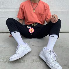 Grade this fit A - F ⚡️ Aesthetic Fashion, Look Fashion, Aesthetic Clothes, Mens Fashion, Fashion Outfits, Retro Outfits, Casual Outfits, Cute Outfits, Converse Outfits